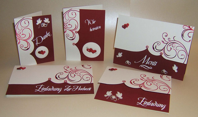 Hochzeitskarten bordeaux