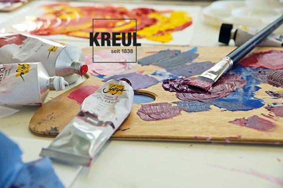 Künstler-Ölfarbe Palette