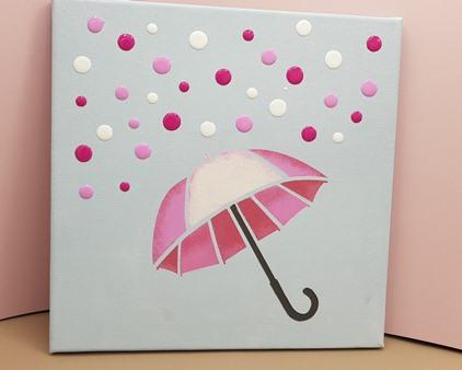 Blob Paint Regenschirm